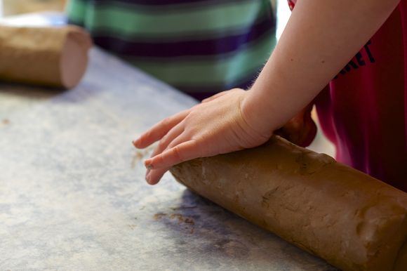 Clay-and-hands