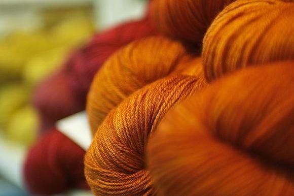 Orange-yarn